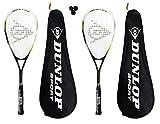 2 x Dunlop Nanomax Ti Squash Racketts + 3 Squash Bälle