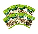 Dehner Bio Keimsprossen, 2 x 4 Sorten, Fitness-, Gourmet-, Pikant-Aromatisch und Wellness Mischung