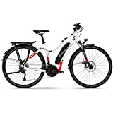 Haibike SDURO Trekking 6.0 500Wh Yamaha Elektro Fahrrad 2018 (28' Damen Trapez L/52cm, Weiß/Rot/Anthrazit Damen)