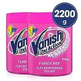 Vanish Oxi Action Farbsicheres Fleckenentferner Pulver, Universal Fleckentferner für bunte Wäsche, 2,2 kg Pulver, (2 x 1,1 kg)