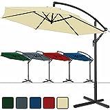 Deuba Alu Ampelschirm Ø 350cm • blau • mit Kurbelvorrichtung • Aluminium • wasserabweisende Bespannung - Sonnenschirm Schirm Gartenschirm Marktschirm