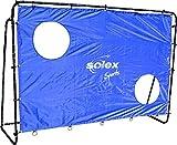Fußballtor mit Netz und Torwand - Solex Soccer Goal 2in1 Set - Kinder Tor und Torschusswand für Fussballtraining, Schusstraining und Torwandschießen draußen im Garten