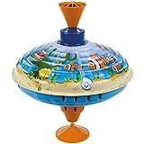 Bolz 52364 - Brummkreisel Meerestiere, Ø 16 cm, Blech Schwungkreisel, Musikkreisel erzeugt mehrstimmige Töne, Spielzeugkreisel für Kinder ab 1,5 Jahre, Blechkreisel aus Metall mit Tieren aus dem Meer