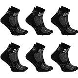 6 Paar schwarze Anti-Rutsch-Socken mit ABS-System, ideal für solche Sportarten,wie Joga,Fitness,Pilates,Kampfkunst,Tanz,Gymnastik,Trampolinspringen.Größen von 42 bis 43,atmende Baumwolle