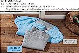 Global Mikrofaser Hundehandtuch Set Handtuch und Schaltuch mit Stickerei echte Mikrofaser (blau)