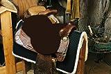 Engel Reitsport Lammfell Sattelsitzbezug western Farbe mocca braun (Sabez 2, ohne Hornausschnitt/Horndurchlass)