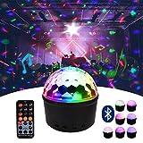 Discokugel Party Disco Licht Musik Lichteffekt LED Nachtlich mit Bluetooth Lautsprecher und Fernbedienung für Disco Party Geburtstag-EINWEG