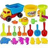 Strandspielzeug BANDRA 21 Stück Sandformen Set Sandspielzeug Sandkasten Set mit Tasche für Kinder Jungen Mädchen