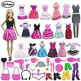 ZITA ELEMENT 55 PCS= 5 Kleider Freizeitkleidung Outfits + 50 Accessories Verschiedenes Zubehör für 11,5 Zoll Barbie Mädchen Puppe iedenes Zubehör für 11,5 Zoll Barbie Mädchen Puppe