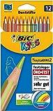 BIC Kids 948507 Buntstift Tropicolors 2, 12-farbig sortiert Kartonetui, 12 Stück