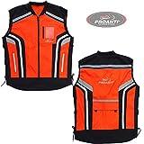 Motorrad Warnweste Sicherheitsweste Motorrad Quad Neon Weste von PROANTI Größe XXL