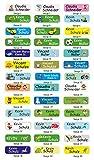 INDIGOS UG Namensaufkleber/Sticker/Namen - 5x1,5 cm - 60 Stück für Kinder, Schule und Kindergarten