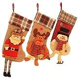 SueH Design Weihnachtsstrumpf 3er Set 48cm