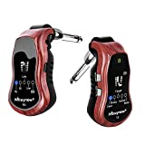 Muynow Gitarre Effektor Bluetooth Gitarre Stimmgerät mit Sender und Empfänger Gitarre Synthesizer Anschluss 3,5 mm Mini Gitarrenverstärker mit 5 Sound Effekte Led Anzeige Wiederaufladbar