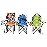 Kinder-Klappstuhl im Tier-Design, für Garten/Camping, mit Tragetasche und Sicherheitssperre