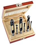 ENT 6-tlg. Zapfenschneider und Forstnerbohrer Set WS - Ø 8 - 10 - 12 mm - für Verbinder, Dübel und Zapfen