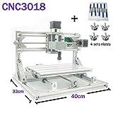 TopDirect CNC Fräsmaschine, Arbeitsbereich: 300*180*45mm, DIY CNC Router Maschine 3 Achsen Mini Holz PCB Acryl Fräsmaschine Metall Gravur Carving Maschine