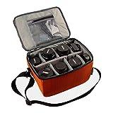 Wasserdicht Stoß Partition Gepolsterte Kamera-Taschen SLR DSLR Insert Schutzhülle Mit Top Griff und verstellbarem Schultergurt für DSLR-Schuss Objektiv oder Blitzlicht (Low)