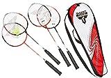 Talbot Torro Badminton Set 4-Attacker im Thermobag, Weiß/Rot, 449518