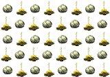 40 Stück Restposten Teeblumen / Teerosen / Teeblüten / blooming tea / Erblühtee / Aufblühtee aus hochwertigem Weißtee mit natürlichen eingearbeiteten Blüten und Litschi-Aroma by Feelino