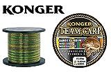 Konger Angelschnur Team Carp Camou Rainbow 600m Spule Monofile Karpfen Schnur (0,40mm / 15,30kg)