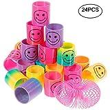 Goldge 12 X Springs Magic Rainbow BeleuchtenLächeln Regenbogenkreis Regenbogen Strolche,Puzzle Lernspielzeug, Mitgebsel, Kindergeburtstag, Spielzeug,Party