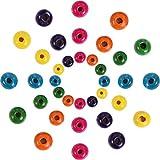 1000 Stück Runde Holzperlen Verschiedene Farben Holzperlen für DIY Schmuck Herstellung, 8 mm 10 mm und 12 mm