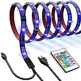 Led TV Hintergrundbeleuchtung 4x 0.5 Meter USB SMD5050 LED Beleuchtung mit Fernbedienung für TV, Monitor, Spiegel