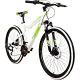 Galano GX-26 26 Zoll Frauen Mountainbike Hardtail MTB (Weiss/grün, 44cm)