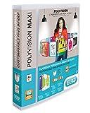 ELBA 100201773 10 x Kunststoff-Ringbuch polyvision Maxi DIN A4 4 Ring-Mechanik 4,5 cm breit Präsentations-Ordner Ring-Buch Hefter Plastikordner transparent