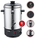 DMS 8 L Glühweinkocher Glühweinautomat Wasserkocher Heißwasserspender Kocher Glühweinkessel Kessel 1800 Watt Einkochautomat TK-8