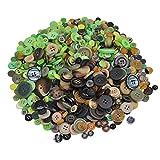 Joyibay 600PCS Harz Taste 2 und 4 Löcher Runde Schaltfläche Grundknöpfe für DIY Handwerk