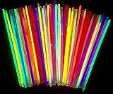 50 Knicklichter | Leuchtstäbe | Armreifen | Glowstick | Partylichter | Neon rot gelb grün pink orange blau | PREMIUM Lichter, leuchten ewig | deutsche Marke molinoRC | Expressversand BRD