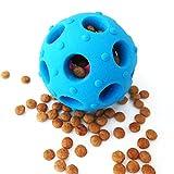 Hundespielzeug Ball aus Schadstofffrei Naturkautschuk, Interaktiv Hunde Snackball mit Loch für Spiel-Spaß & perfekte Dental-Zahnpflege-Funktion, IQ Training Futterball Intelligenzspielzeug für Hunde