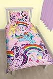 My Little Pony Party Rotary Print Bettbezug-Set, Polycotton, mehrfarbig, Single