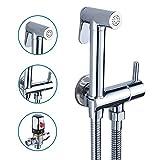 Thermostat Bidet Handbrause Toilette Bad Bidet Set Edelstahl Bidet-Armatur Waschbeckenbrause mit Schlauchbrause