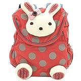 BAOSHA KD-02 Babyrucksack Kindergartenrucksack Kindergartentasche Backpack Schultasche Kinder (Rot)