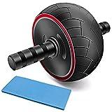 AFDK Übungsrad - Kerntrainingsrad Bauchmuskel-Trainingsgerät mit Knieschoner und rutschfesten Griffen für Fitnessgeräte für den Menschen