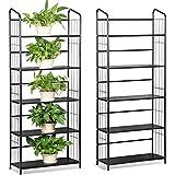 Yaheetech 2 Set Blumentreppen Pflanzenregal Treppenregal Gartenregal Metall Regal für Pflanzen Stufenregal mit 5 Böden für Garten Dekoration 160 x 66 cm