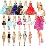 Miunana 16 Stück Kleidung , 10 Casual Kleider +3 Abendkleider + 3 Badenanzug für Barbie Puppen Doll