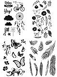 be fancy! Silikonstempel Set - Blumen Federn - Clear Stamps - Stempel - 56 Motive - transparent