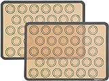 AmazonBasics - Backmatte für Macarons aus Silikon, 2 Stück
