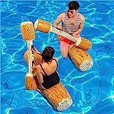2 Stück gesetzte aufblasbare Schwimm Reihe Spielwaren, Erwachsene Kinder-Pool-Party Wassersportspiele Lügen Flöße Float Spielzeug