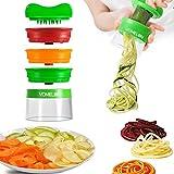 Spiralschneider, 3-Klingen Gemüseschneider, Gemüsehobel, Gemüsespaghetti Für Karotte, Gurke, Kartoffel, Kürbis, Zucchini