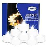 AGPTEK 100 LED Kerzen Flammenlose Kerzen Batteriebetriebene Teelichter für Weihnachtsbaum, Weihnachtsdeko, Hochzeit, Geburtstags, Party(Kaltweiß)-'MEHRWEG'