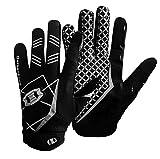 Seibertron Pro 3.0 Elite Ultra-Stick Sports Receiver/Empfänger Handschuhe American Football Gloves Jugend und Erwachsener schwarz L