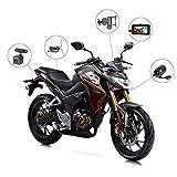 GJQDDP Motorrad-Recorder, Doppelobjektiv-Front- und -Doppelaufzeichnung HD-wasserdichtes 3.0 LCD-Display Nachtsichtgerät mit 10-Grad-Nachtsicht und 1080P-Doppelobjektiv