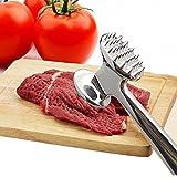 FUNRUI Fleischklopfer Edelstahl Fleischhammer Metall mit zwei Bearbeitungsflächen Spülmaschinenfest 22.5 cm