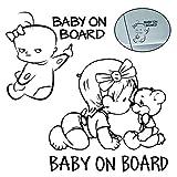 WENTS 2PCS Baby on Board Auto Sicherheitswarnung Aufkleber Baby Auto Aufkleber Aufkleber Auto Sticker - Autoaufkleber UV- Wetterfest Wasserfest Hangover (Baby on Board)