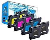 8X Drucker Gel-Kartuschen für Ricoh Aficio SG2100n Gel Tintenp - Eco Light Serie